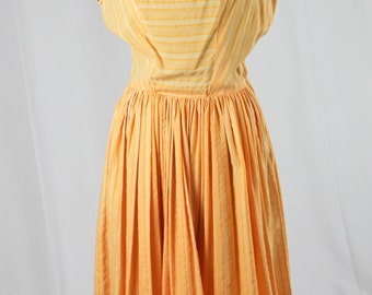 60s Orange Sleeveless Dress