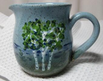 BIRCH TREES Creamer Wheel thrown Stoneware, Pottery