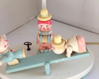 Vintage irme nursery lamp ta ra ra boom de ay musical lamp