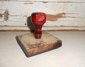 Vintage Wood Ink Stamp Handle, Schwaab Ideal Ink Stamp Handle