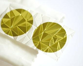 Embossed Gold Foil Seals 1.5in   Gem Embossed Envelope Seals   Embossed Seals   Wedding Engagement Invitations   Envelope Seals