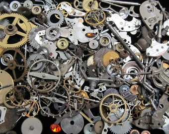 1 oz 28 grams Vintage Watch movements parts cogs gears Steampunk Z 62