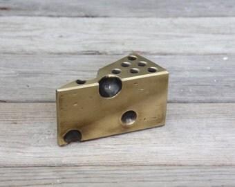Awesome Brass Ben Seibel Cheese Desk Pencil Pen Holder