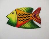 Large Fish Iron On Fabric Applique