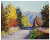 AUTUMN OIL PAINTING  fall trees Colorful Vibrant impressionism Wall art