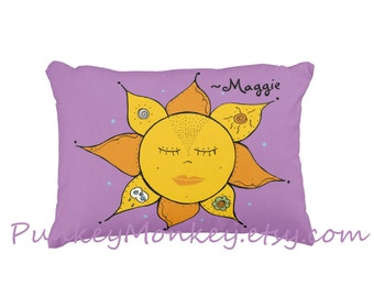 Sunshine elements toss pillow personalized or not made to order custom pillow home decor 16x12 kids teens adult room decor Mother Nature