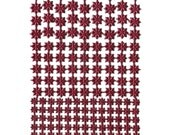 Dresden Trims Made In Germany Burgundy Foil Stars 159 in 3 Sizes  DF 8340 BU