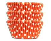 Orange Polka Dot Baking Cup - 50 paper cupcake liners