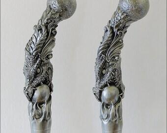 Dragon Beer Tap Handle,  kegerator tap handle, Silver metallic finish