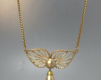 Vintage Van Dell Gold Filled Lavalier Pendant Necklace