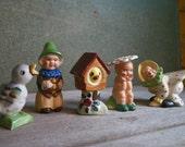 Group of Vintage/Antique Mismatched Salt and Pepper Figurines - Adorable