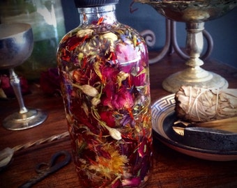Custom Magic Potion Oil Blend 2oz Uniquely Blended for You with Alchemical Herbs, Heartwoods, Crystals, Essential Oils, Absolutes