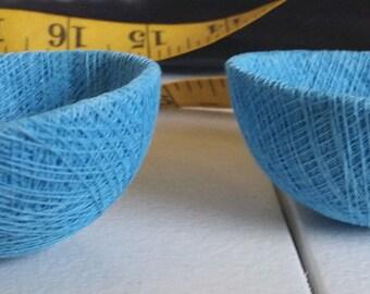 medium blue string bird nests twine bowls crafts supplies findings