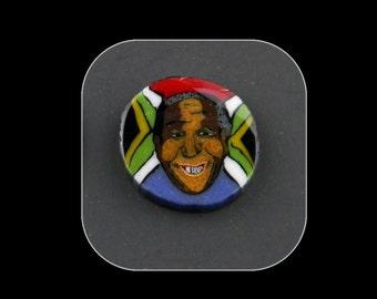 Mandela Tribute Murrine Boro Murrina Cabochon - 87
