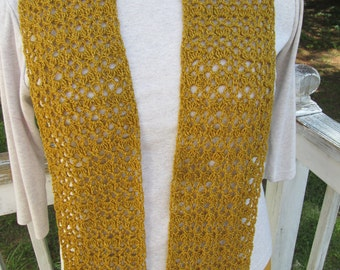 """Gold Sparkle """"Glam"""" Scarf"""