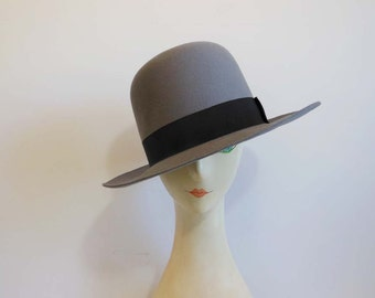 80s hat / Norma Kamali for Stetson Vintage 1980's Hat Bowler