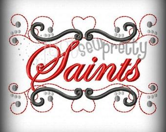 Saints Pride Embroidery Design