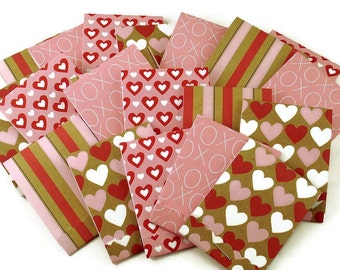 20 Matchbook Notepad  Party Favor  in  Valentines Mix
