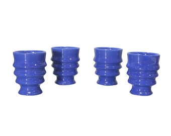 1930s Cups, Ribbed Tumblers, Vintage Drinking Glasses, Metlox Poppytrail Pottery