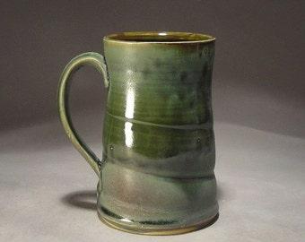 Stoneware Handmade 16 oz pint size Pottery Mug / Tankard for Coffee, Beer or Tea