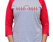 Valentines Day T-shirt. EKG Heart shirt. Valentines Day Gift. Funny Womens shirt. Valentines Day Gift. Wife gift. Nurse gift. Love tee