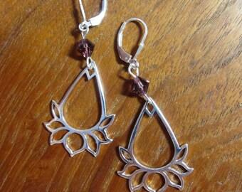 SILVER LOTUS Earrings:  Meditation /Yoga / Compassion / New Beginnings / Spiritual Healing Jewelry
