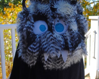 Medium NomNom Monster Furry Messenger bag --Kellis