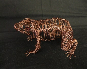 Frog - Copper Wire Sculpture