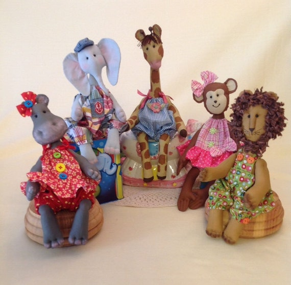 Cloth Doll E-Patterns Special Collection of Baby Animal patterns