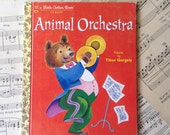 Golden Book Journal No. 062 Animal Orchestra -Made Just for YOU! Golden Book Journal with Hand Torn 140lb Cold Press Watercolor Paper
