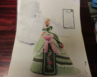 Barbie Crocheting Patterns Fashion Doll Miss March 1993 Calendar Dolls Collection Annie Potter Presents Crochet Pattern Leaflet