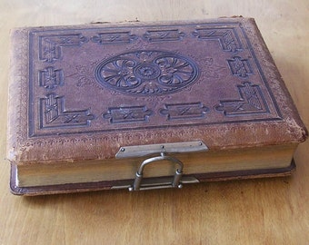 Antique Photo Album With Antique Photographs Vivtorian Photos Late 1800s