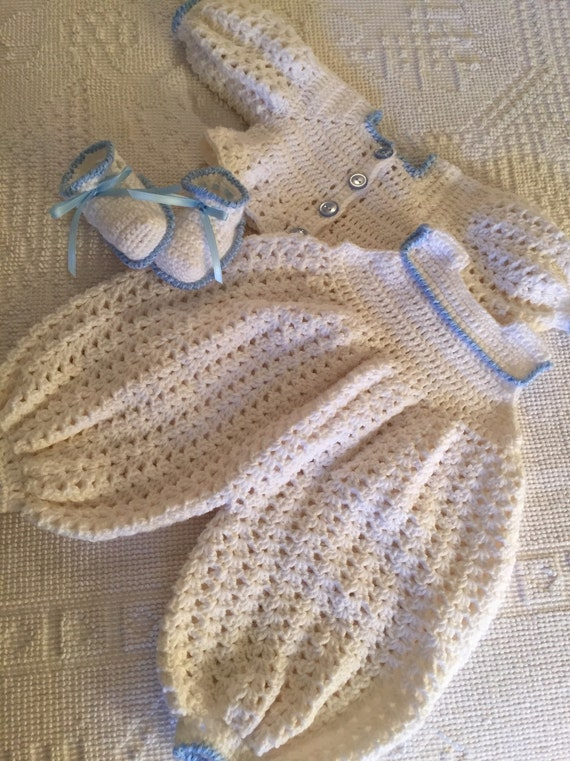 Crocheted Onesie baby playsuit baby romper crocheted baby