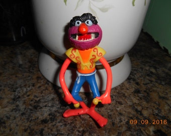 1978 Henson Assoc Inc Muppets Animal Toy Figure 3 3/4 inch tall Made in Hong Kong
