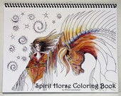 Adult coloring book Spirit Horse Coloring Book delightful original equine images for coloring fun