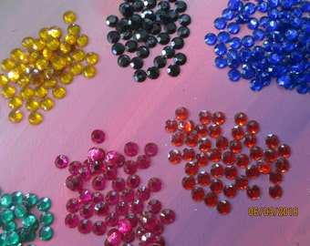 Crystals,  Flatback Faux Gems,  10MM, Invitations,Valentines Day,Embellishments