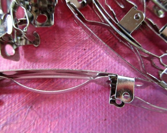 French Clip Barrettes  Metal Barrettes  8 French Clip Barrettes