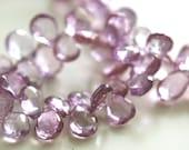 Clearance, Pretty in Pink, Soft Pink Quartz Gemstone Briolettes, Half Strand, 10-12 mm, 26 Beads