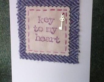 Purple Anniversary Card made using Harris Tweed
