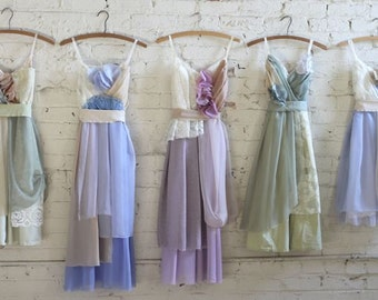 Custom Mismatched Bridesmaids Dresses