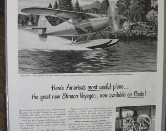 106  The Stinson Voyager Ad -  1947