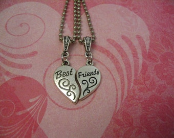 Two Best Friends Necklace Set for Sister Friends Mother Daughter Friendship Jewelry Gift