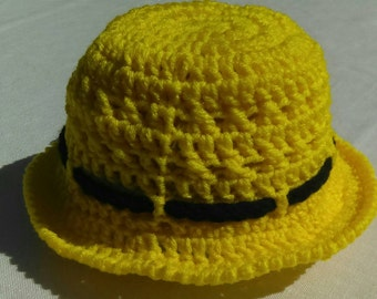 Toddler Bright Yellow Sunhat size 12-24 months