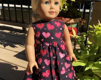 HEARTS I - 18-Inch Doll Dress