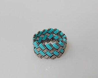 Basket Weave (Turquise) Ring