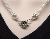 The Roses No 2 Slave Collar Sterling Silver Hand Woven Viking Knit Chain SHIPS NOW