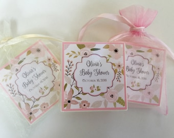 Baby girl, shower favors, party favors,  Bridal Shower, Tea Party soap favors,  set of 10