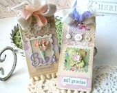 Mil Gracias Shabby Chic Handmade Tags