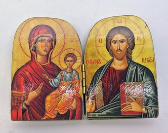 FOUND IN SPAIN --- Lovely handcarved diptych