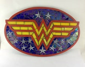 Wonder Woman Stained Glass Mosaic Plaque